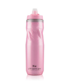Insulated Water Bottle   24 oz   Pink