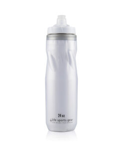 Insulated Water Bottle   24 oz   White